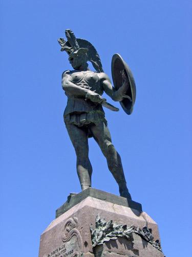 Statua-milite-sannita-Pietrabbondante-Isernia