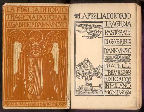 la-figlia-di-iorio-gabriele-d'annunzio-libro-antico