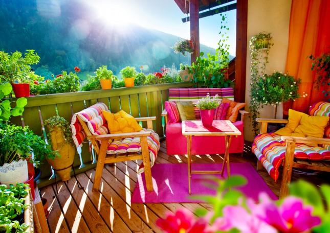 Come arredare il balcone di casa o il terrazzo for Arredamento per terrazzo piccolo