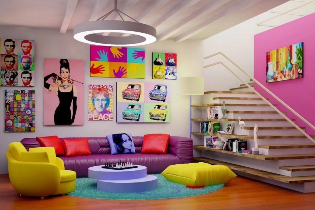 soggiorno-pop-art