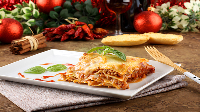 Le lasagne tradizionale e gustoso piatto Italiano