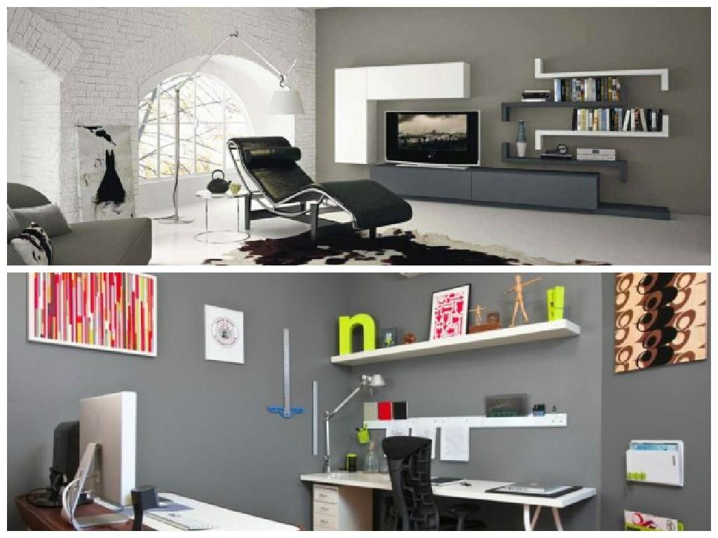 Pareti Grigie Mobili Rossi : Colorare le pareti di casa con tendenze ...