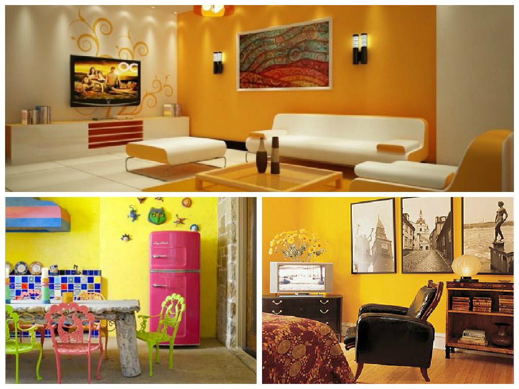 Pareti Gialle E Arancio : Colorare le pareti di casa con tendenze alla moda