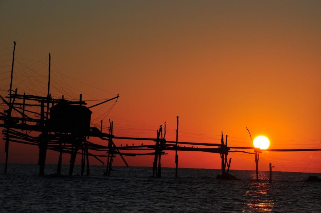 trabocco-tramonto