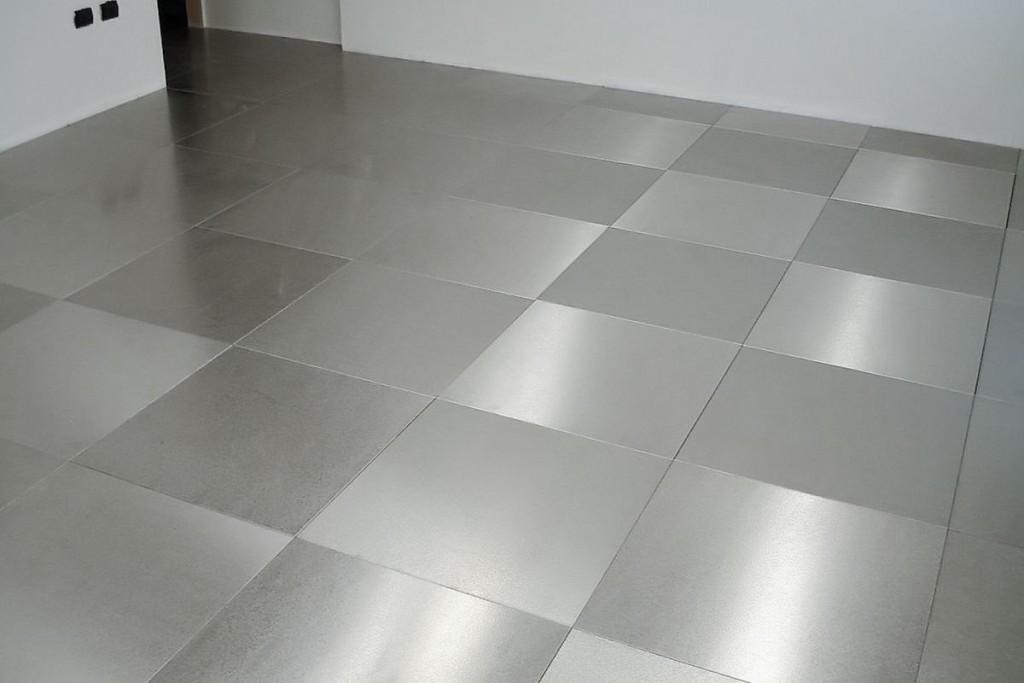 pavimenti in acciaio inox