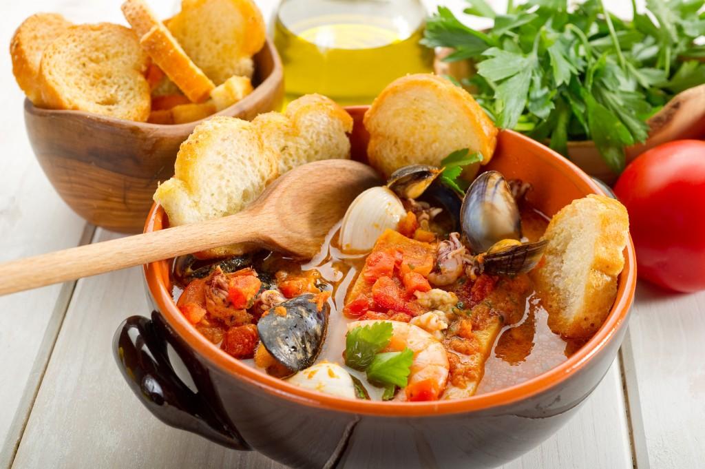 fish soup caciucco-caciucco