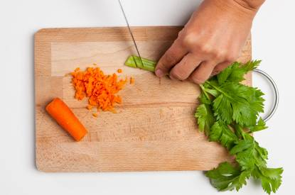 sedano e carota tritate